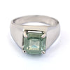 6.00 Ct Blue Diamond Solitaire Men's Ring In Emerald Cut, AAA Quality, Great Shine & Luster ! Watch Video - ZeeDiamonds