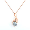 2.10 Ct AAA Certified Off White Diamond Pendant With Rose Gold, Great Shine & Luster ! WATCH VIDEO