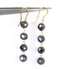 AAA Certified 4 mm Black Diamond Dangler Earrings in Yellow Finish, Ethnic Collection & Great Style - ZeeDiamonds