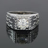 1.50 Ct Round Brilliant Cut Off-White Diamond Men's Ring In 925 Silver, Amazing Shine & Bling !