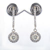 1.60 Ct Designer Off White Diamond Dangler Earrings With Accents! Gorgeous Look & Great Shine! Gift For Birthday! - ZeeDiamonds