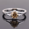 1.70 Ct Champagne Diamond Solitaire Ring in 925 Silver, Beautiful Design & Great Sparkle, Ideal For Gift - ZeeDiamonds