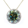 14.03 Ct Certified Blue Diamond Solitaire Pendant With White Accents, AAA Quality !