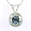14.50 Ct Certified Blue Diamond Solitaire Pendant With White Accents, AAA Quality !