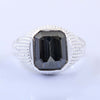 Certified Blue Diamond Ring In Emerald Cut, 3.35 Ct, Great Brilliance, AAA Quality !