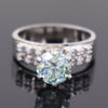 2 Ct AAA Certified Stunning Blue Diamond Solitaire Ring in 925 Silver with Accents, Elegant and Great Sparkle - ZeeDiamonds