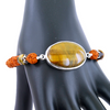 Rudraksh and Tiger Eye Gemstone Astrological Bracelet - ZeeDiamonds