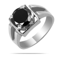 2-4 Ct Black Diamond Solitaire Wedding Ring, Men's Rings - ZeeDiamonds