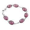 Amethyst Gemstone Connector Link Bracelet In Sterling Silver - ZeeDiamonds