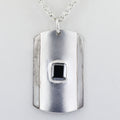2.5 Ct Black Diamond Dog Tag handmade Pendant in 925 Silver - ZeeDiamonds