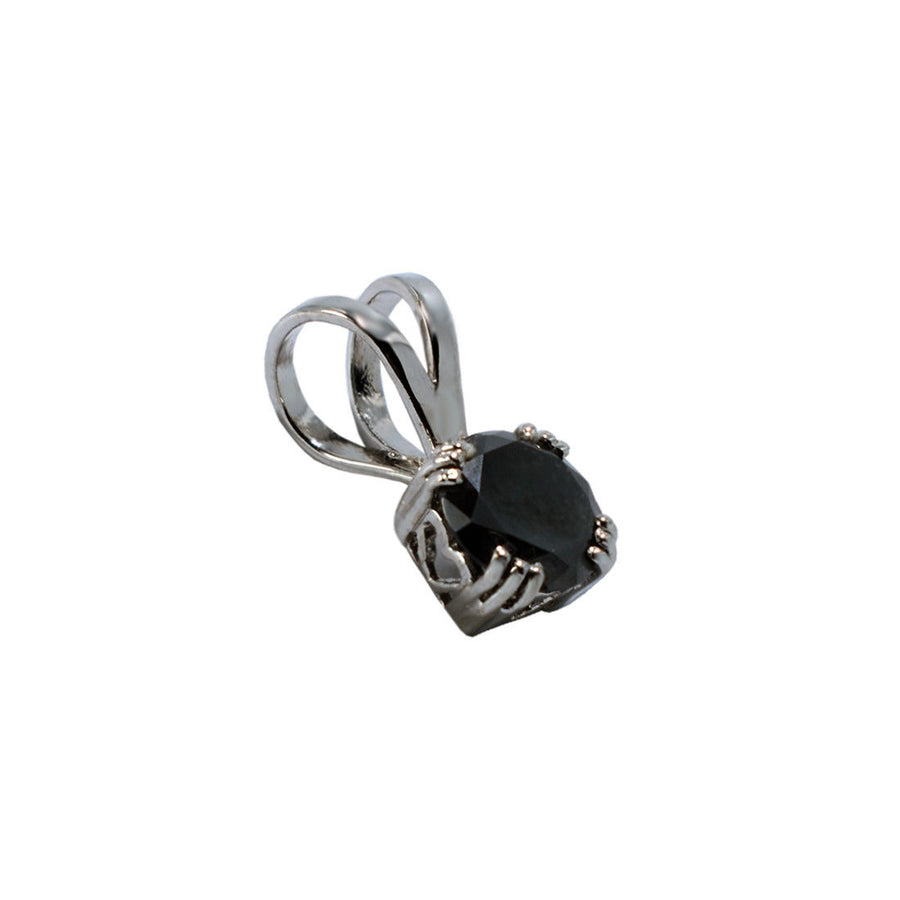 2.5 Ct Black Diamond Pendant In 925 Sterling Silver - ZeeDiamonds