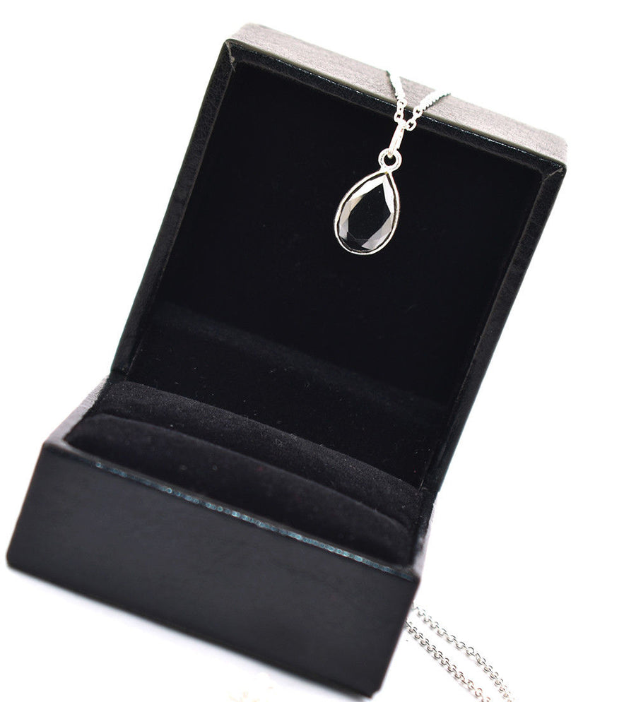 2.78 Ct AAA Certified Black Diamond Pendant Chain Necklace,Gift For Her,Necklace - ZeeDiamonds