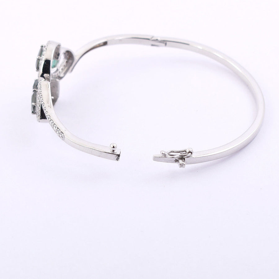 1.07 Ct Unshaped Blue Diamond Bangle Bracelet in 925 Silver - ZeeDiamonds