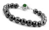 10 mm Black Diamond Faceted Beads Bracelet with Gemstone Clasp - ZeeDiamonds