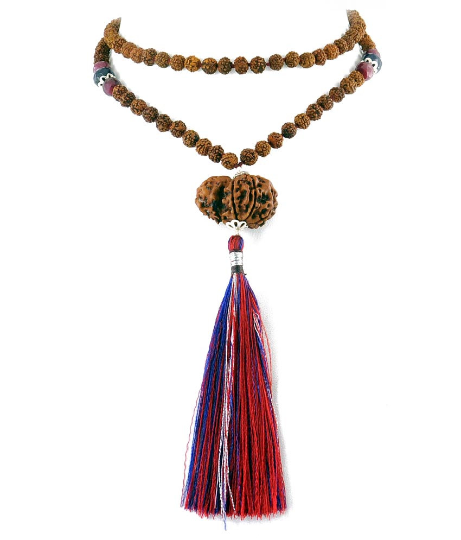 Lord Shiva & Goddess Parvati  Gauri Shankar Rudraksha Necklace - ZeeDiamonds