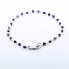 3 mm, Black Diamond Beads Fancy Wire Bracelet in Sterling Silver