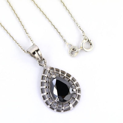 3-5 Ct AAA Certified Black Diamond Pendant Necklace