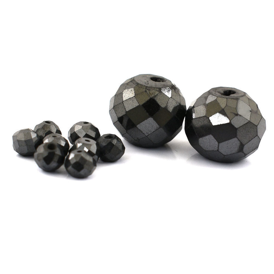 Lots of Jet Black Diamond 100% Certified 12 Cts Faceted Beads, For Jewelry Making - ZeeDiamonds