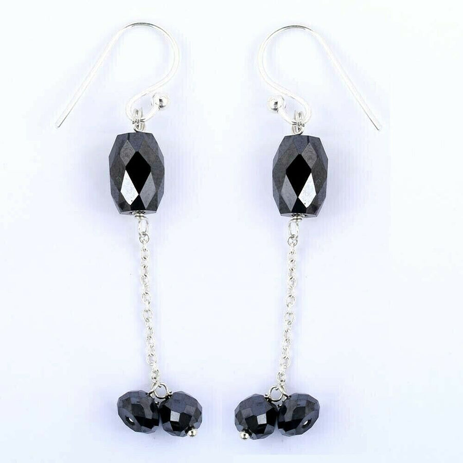 12 Ct, Very Stylish and Delicate Black Diamond Dangler Earrings - ZeeDiamonds