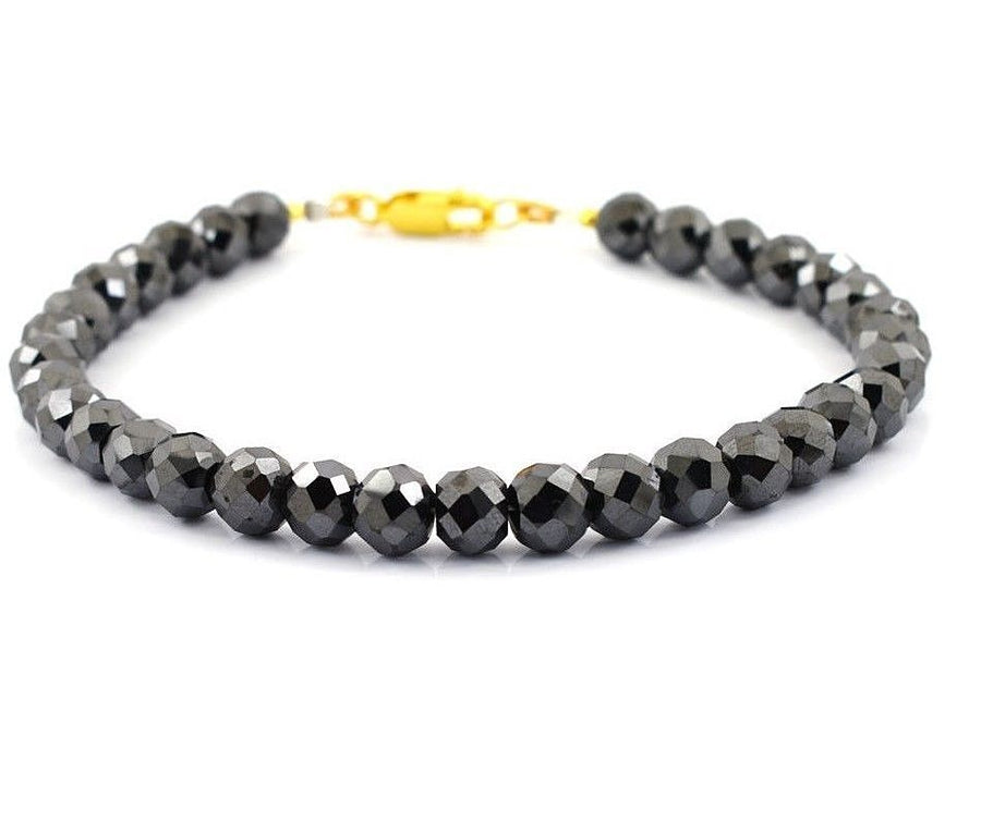 7 mm Black Diamond Sterling Silver Bracelet 90 Cts