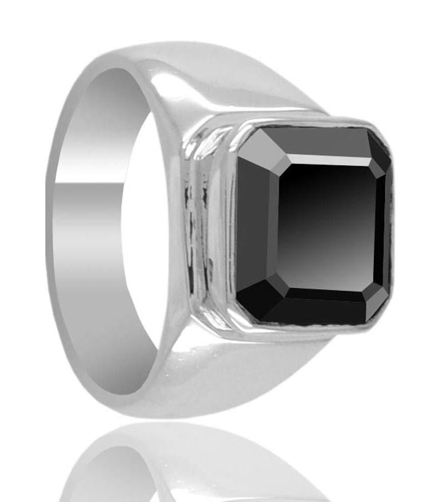 3.1 Ct Asscher Cut Black Diamond Solitaire Ring - ZeeDiamonds