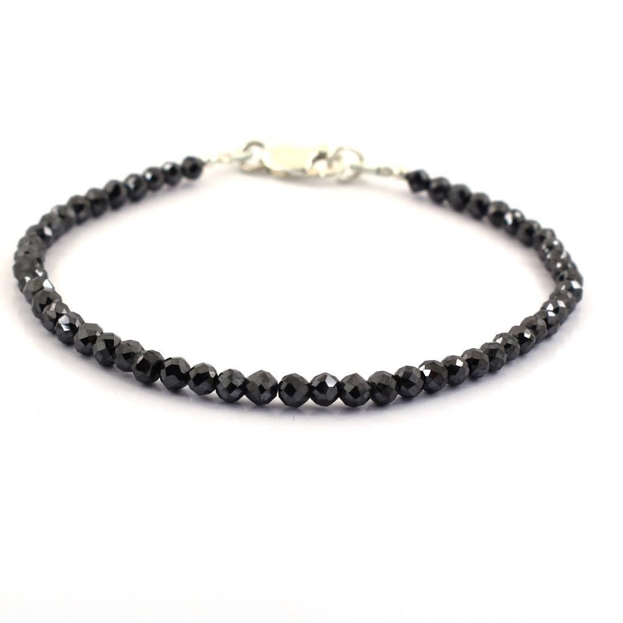 14 Cts Certified  Black Diamond Bracelet- Great Sparkle - ZeeDiamonds