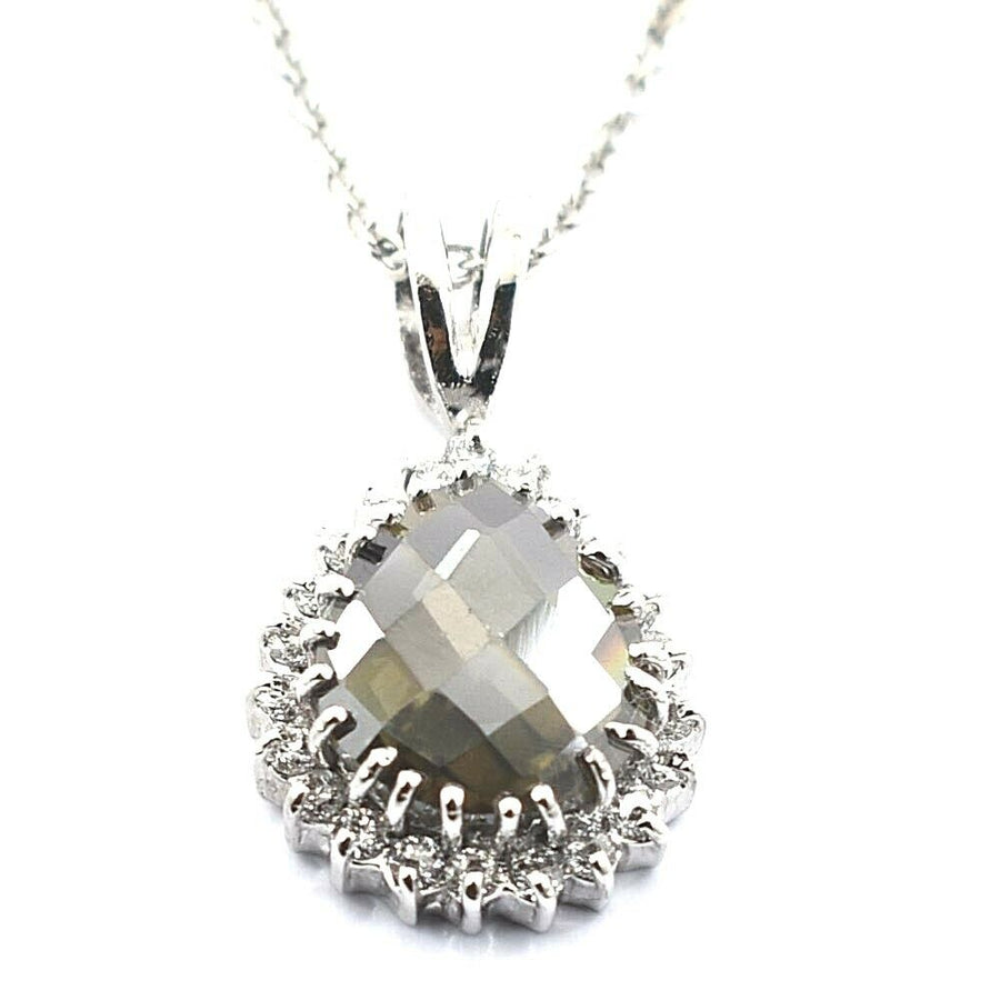 6 Ct Champagne Diamond Designer Pendant with White Diamond Accents - ZeeDiamonds