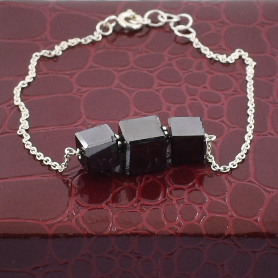 Black Diamond Chain Bracelet 13 Carat Beautiful Shine And Great Luster