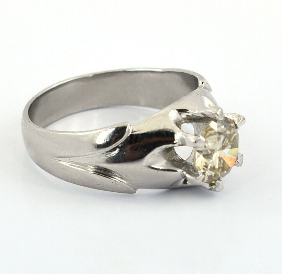 1.50 Ct Champagne Diamond Solitaire Unisex Ring, Designer Creation - ZeeDiamonds