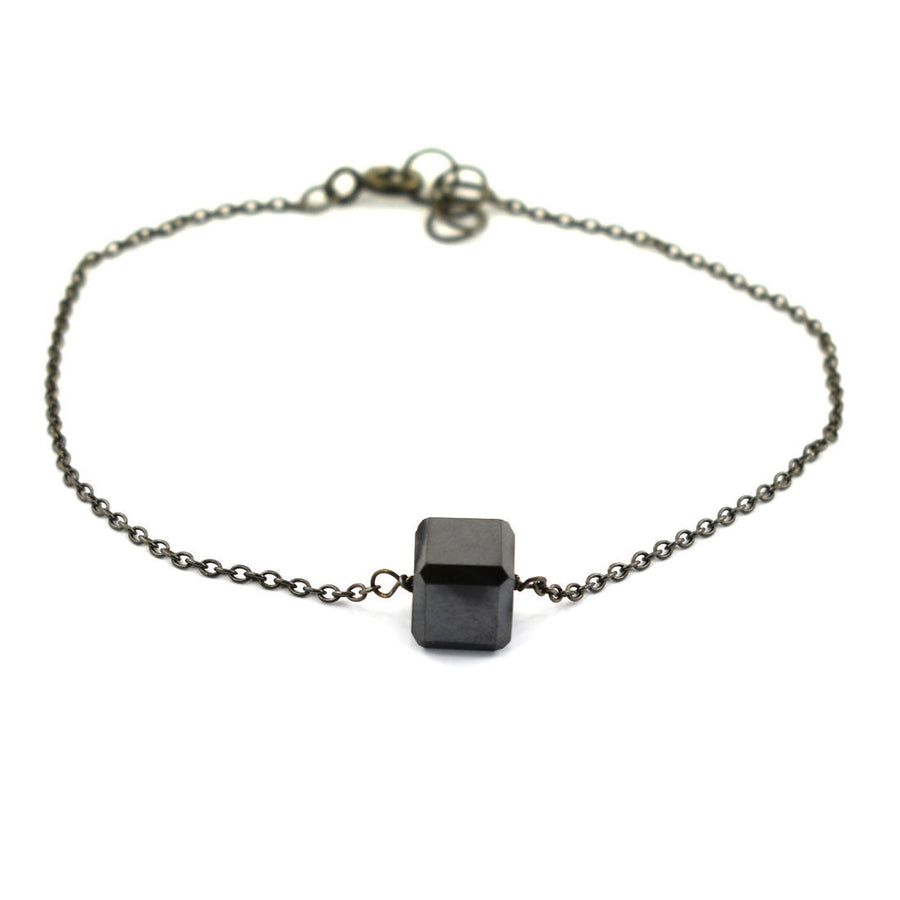 Black Diamond Chain Bracelet 6.95 Carats Certified Great Brilliance