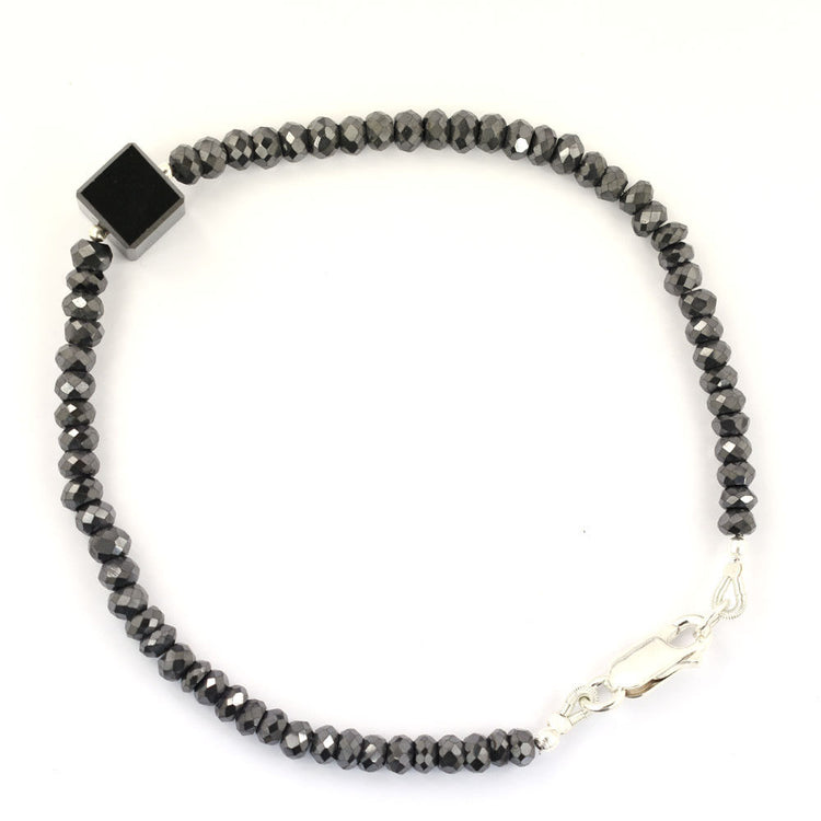 Black Diamond Bracelet 925 Silver 30 Cts Excellent Quality