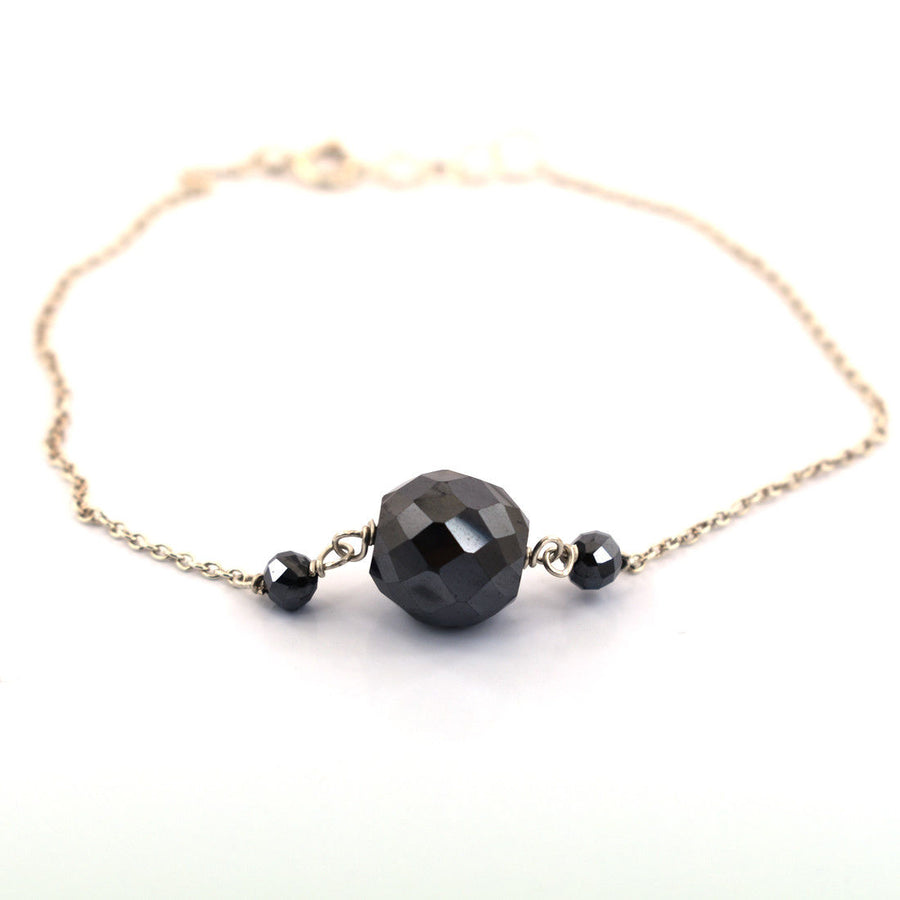 Round Cut Black Diamond Chain Bracelet 9.00 Carats Beautiful Elegant Look! - ZeeDiamonds