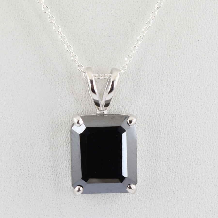 3.80 Carats AAA Certified Black Diamond Pendant.Great Shine And Brilliant Cut! - ZeeDiamonds