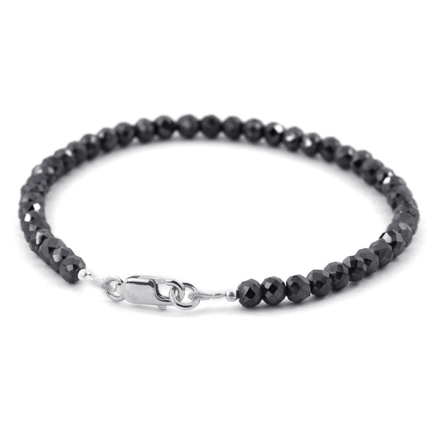 7-9 Inches Certified Earth Mined Black Diamond Bracelet