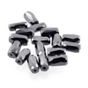10 -5 mm Pipe Shape Black Diamond Beads- 100% Certified (20 Beads) - ZeeDiamonds
