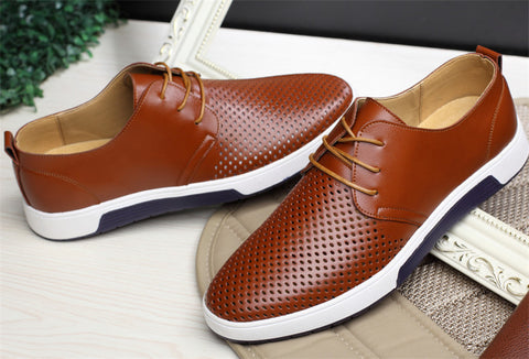 [Comfortable Leather Sneakers] - Tr3ndor