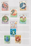 COLLECTION of SPORTS Stamps from Different Countries in SMALL STOCK BOOK