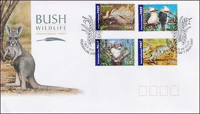 AUSTRALIA - 2005 BUSH WILDLIFE / KANGAROO WILD ANIMALS BIRDS - 4V FDC