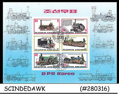 KOREA - 1983 RAILWAY LOCOMOTIVE / TRAINS - MINIATURE SHEET - CTO