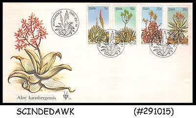 SOUTH WEST AFRICA - 1981 ALOES OF SOUTH WEST AFRICA / PLANTS - 4V - FDC