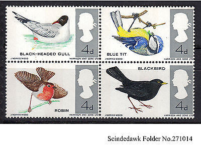 GREAT BRITAIN - 1966 BIRDS SE-TENANT4dX4 - MINT NH