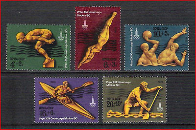 RUSSIA - 1978 XXIIth OLYMPIC GAMES MOSCOW (3rd series) - 5V  - MINT NH