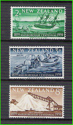NEW ZEALAND 1959 Centenary of Marlborough Province / SHIP / SHIPS 4V MH