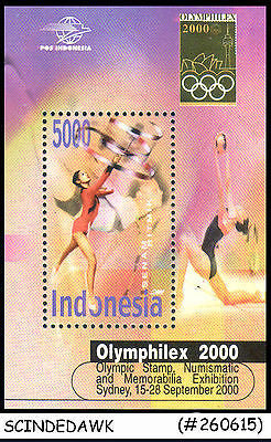 INDONESIA - 2000 OLYMPIHILEX 2000 / OLYMPICS / SPORTS - MIN. SHEET - MINT NH