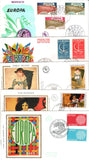 GRAND COLLECTION of EUROPA COVERS Different Countries 1958 to 1975 - 50 plus