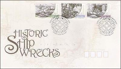 AUSTRALIA - 2007 HISTORIC SHIP WRECKS / SHIPS - 3V - FDC