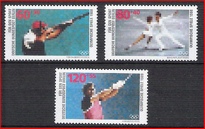 GERMANY - 1988 SPORTS PROMOTION FUND / OLYMPIC GAMES - 3V - MNH