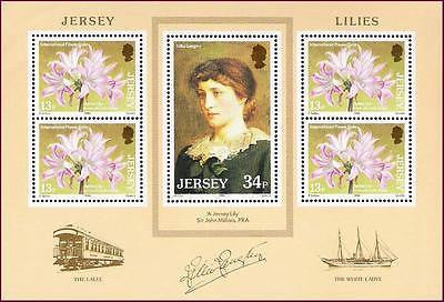 JERSEY - 1986 International FLOWER GALA ISSUE / LILIES - MIN/SHT - MINT NH