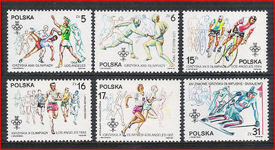 POLAND - 1984 OLYMPIC GAMES / OLYMPICS - 6V- MINT NH