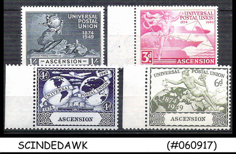 ASCENSION  - 1949 75th Anniversary of UPU - 4V SET MINT NH